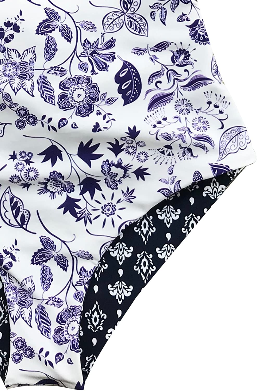 CUPSHE Light Up The Night Print One-Piece Swimsuit Beach Swimwear Bathing Suit