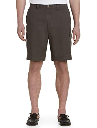 b9c67a1e0c Harbor Bay by DXL Big and Tall Continuous Comfort Twill Cargo Shorts,  Charcoal 38 L