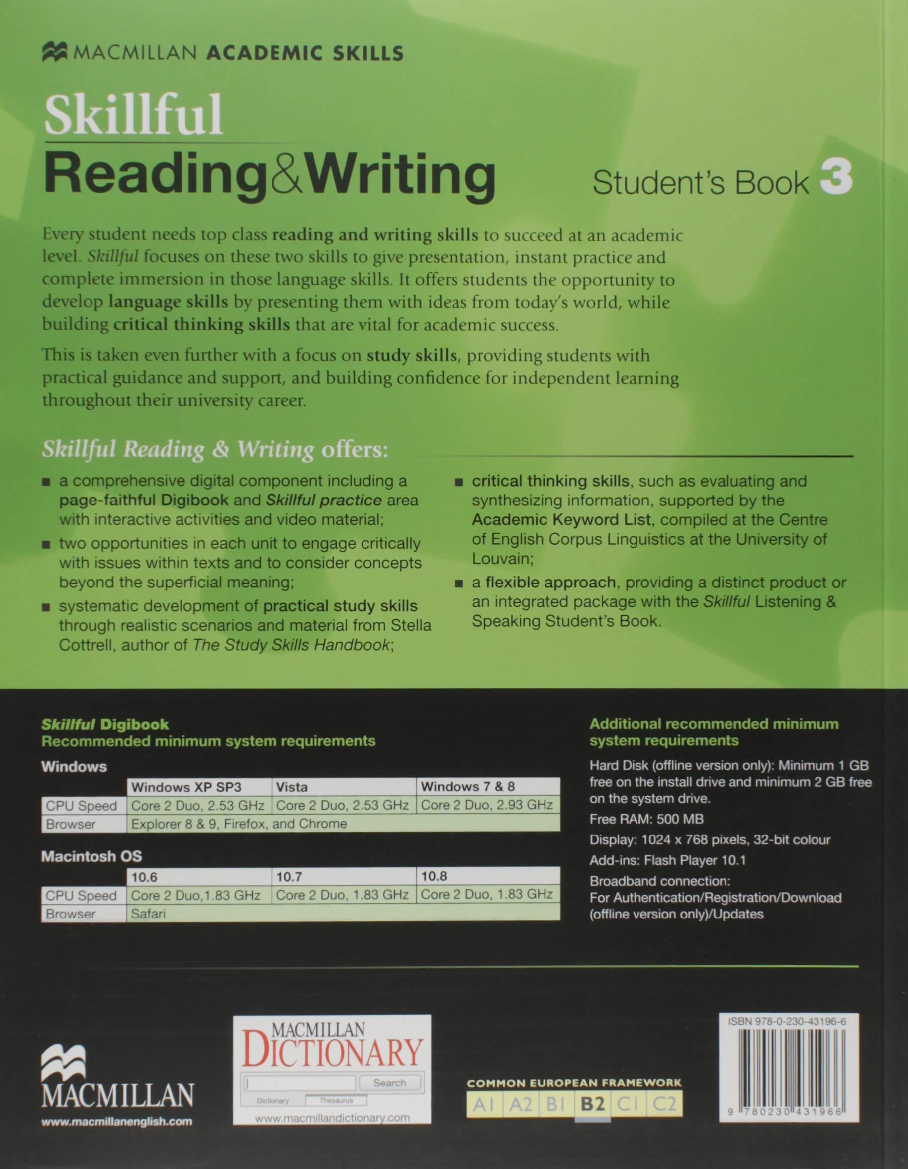 SKILLFUL 3 Reading & Writing Sb Pk Skillful Upper Level 3: Amazon.es: Jennifer Bixby, Jaimie Scanlon, Dorothy Zemach: Libros en idiomas extranjeros