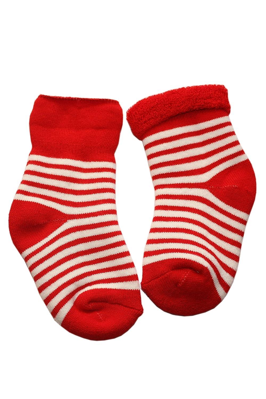 Chaussettes enfants au chaud en Peluche: Taille: 0-3 Mois (13-14), Couleur: Rouge. Prix a partir du fabricant. Weri Spezials