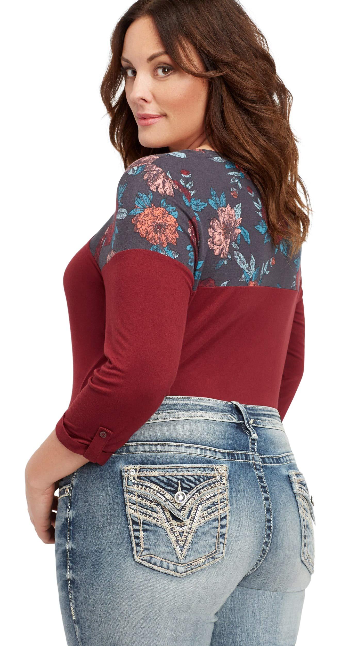 maurices Women's Plus Size Vigoss Medium Wash Slim Boot Jean 18W Medium Sandblast