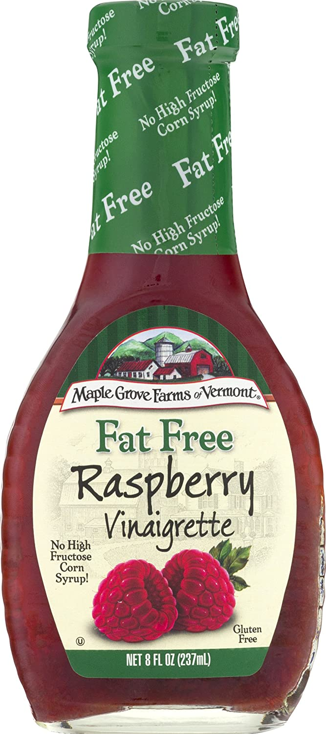 Maple Grove Farms Fat Free Salad Dressing, Raspberry Vinaigrette, 8 Ounce