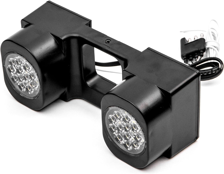 Krator NRA-HT03 Turn LED Hitch Brake Reverse Signal Light for Trucks Trailer SUV 2 Receiver