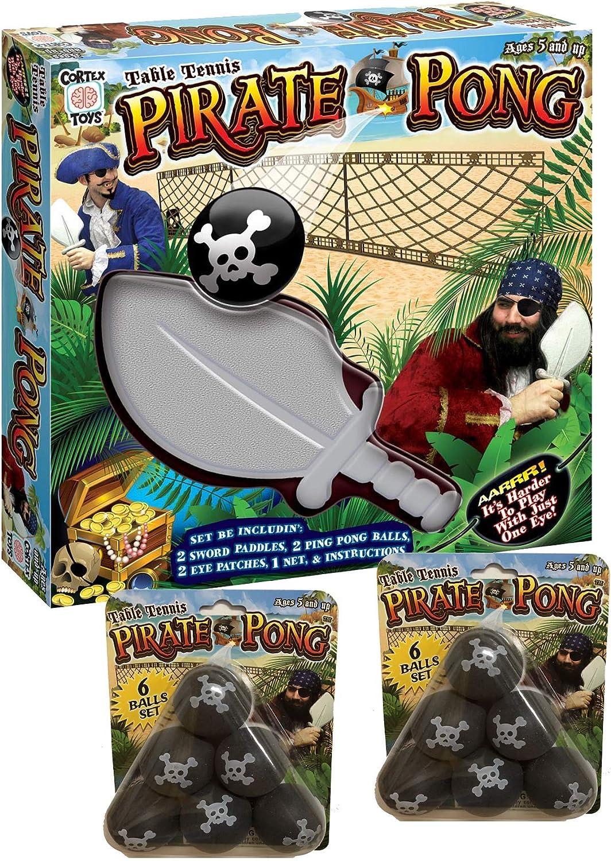 Pirate Pong Cortex Juguetes y 2 Paquetes de Pelotas – Juego de Tenis de Mesa portátil: Amazon.es: Deportes y aire libre