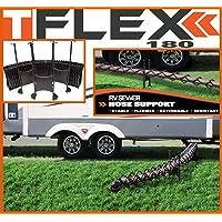 TFlex RV DRAINING Hose Support – High Grade Plastic – Adjustable Height – 180° Flexibility – 30 Seconds Installation…