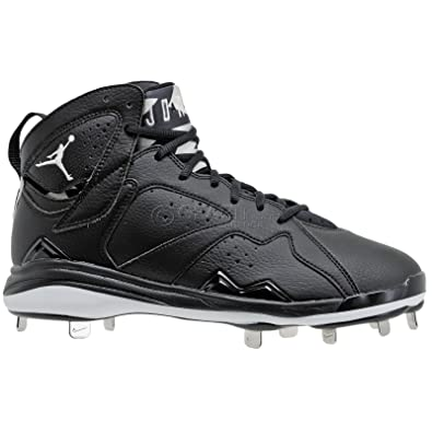 Nike Mens Air Jordan 7 Retro Metal Baseball Cleats Black/White 684943-010  Size