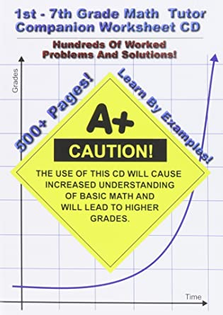 Amazon.com: 1st-7th Grade Math Tutor Companion Worksheet CD: Jason ...