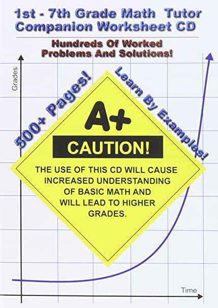 Counting Number worksheets maths worksheets for grade 4 : Amazon.com: 1st-7th Grade Math Tutor Companion Worksheet CD: Jason ...
