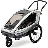 Qeridoo Sportrex 1 Deluxe (inkl. Sitzpolster) Kinder-Fahrradanhänger für 1 Kind (mit einstellbarer Federung)