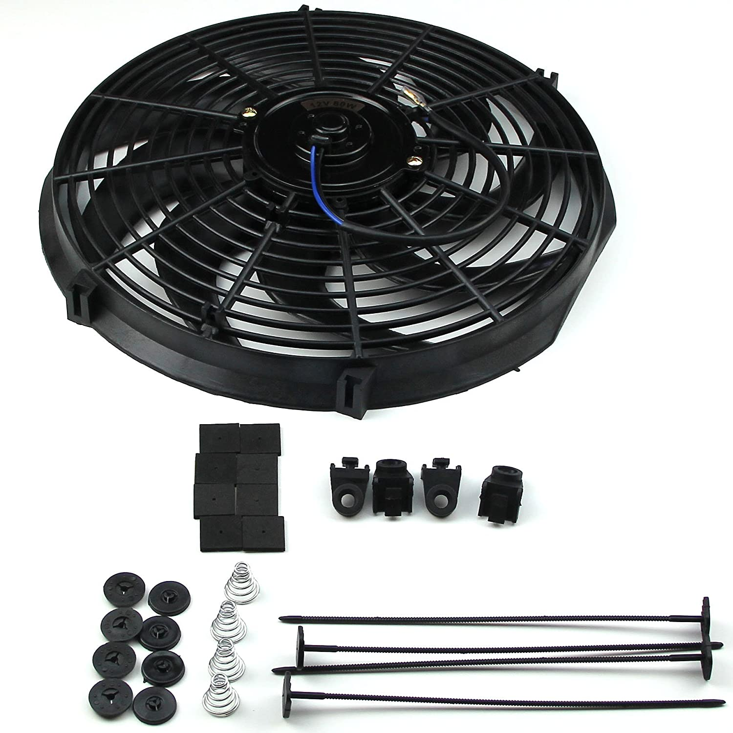 """8/"""" HIGH PERFORMANCE ELECTRIC RADIATOR COOLING FAN FLAT BLADE by CFR Efficient"""
