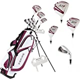 Aspire X1 Ladies Women's Complete Golf Club Set Includes Driver, Fairway, Hybrid, 6-PW Irons, Putter, Stand Bag, 3 H/C's…