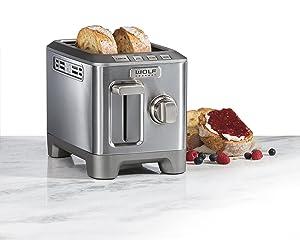 Wolf Gourmet 2 Slice Toaster (WGTR122S)