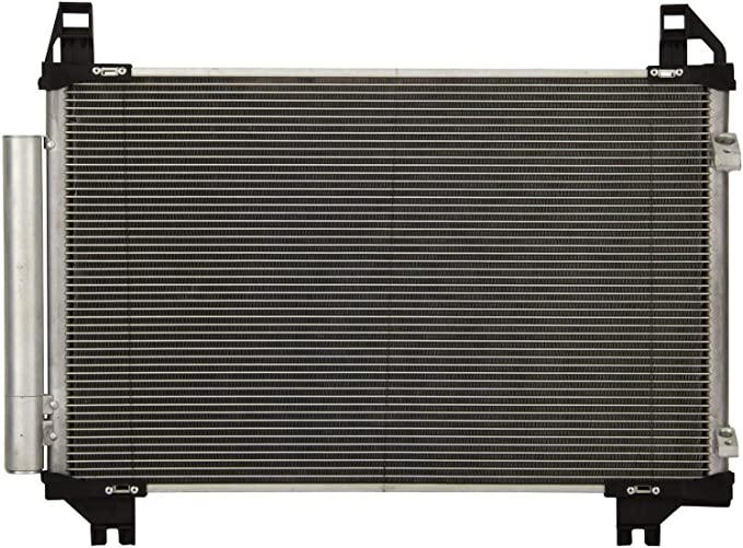 All Aluminum Air Condition Condenser 1 Row Compatible with 2008-2014 xD 2007-2015 Yaris Without Oil Cooler