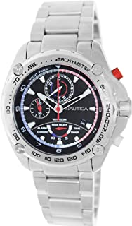 Nautica Mens Nst A34521G Black Stainless-Steel Quartz Watch