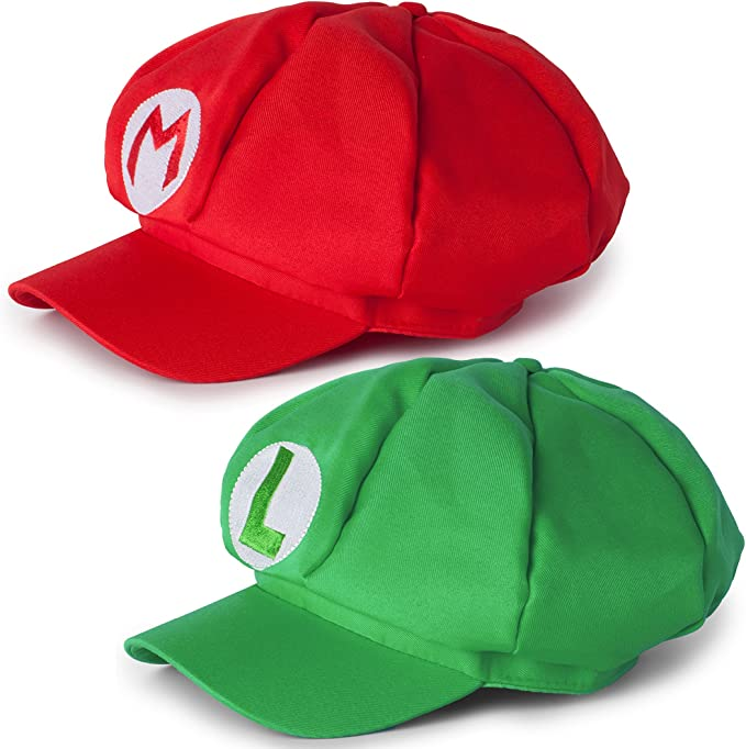 Katara 1658 Disfraz de Super Mario Bros, 2 Gorras - Mario y Luigi ...