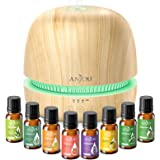 Essential Oil Diffuser Gift Set for Mother's Day - Anjou 300ML Ultrasonic Aromatherapy Diffuser & Cool Mist Humidifier with E