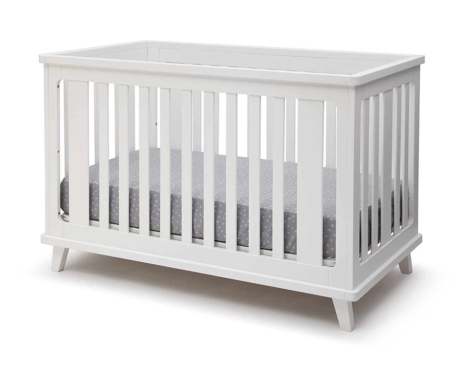 Delta Children Ava 3-in-1 Convertible Baby Crib, White 6801-100