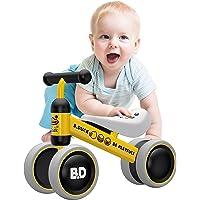 YGJT Vélo Bébé 1-1,5 Ans Educatif Porteur Enfant Moto Chidlren Walker Véhicule sans Pédale Jouet pour 1 an Infantile Premier Vélo pour Garçons Filles Unisexe