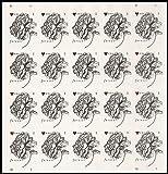 2015 Vintage Rose Wedding Sheet of 20 Forever Stamps 2015 Scott 4959 By USPS