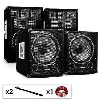 PAAR MOBILE DJ PA LAUTSPRECHER BOX SET 12/'/' 30CM DJ BÜHNE PARTY MONITOR 600W