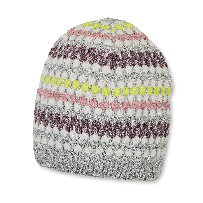 Sterntaler Baby-Mädchen Mütze Strickmütze Grau (Silber Melange 542) 49 4721704
