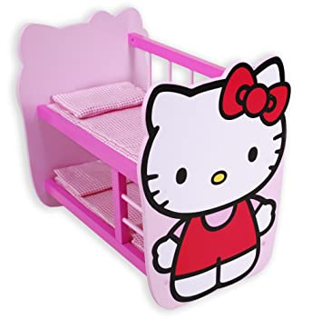 Otto Hello Kitty Wooden Bunk Bed For Dolls 44 5 X 29 X 40 Cm Amazon