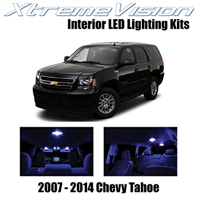 Xtremevision Interior LED for Chevy Tahoe 2007-2014 (12 Pieces) Blue Interior LED Kit + Installation Tool: Automotive