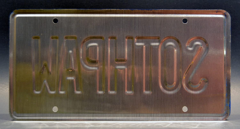 Lamborghini Jalpa//Sothpaw metal Stamped Rocky IV//Sylvester Stallone//Rocky Vanity Prop targa
