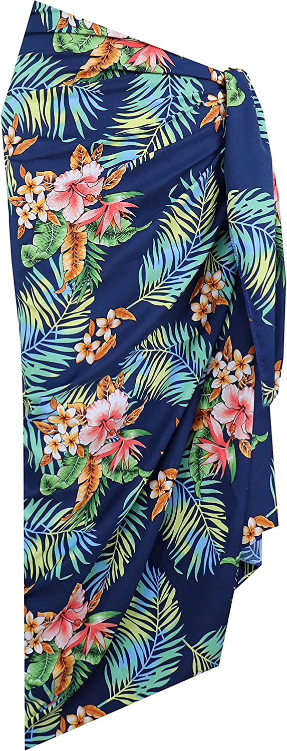 Alvish Sarong 54 Women Flower and Leaf Beach Swimsuit Wrap for Women//Girls