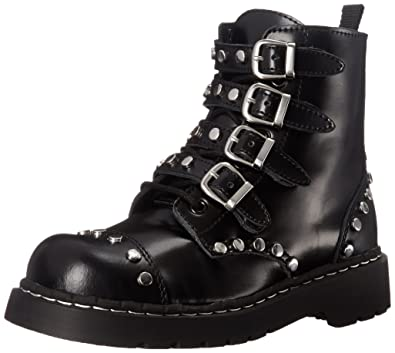 4a87cc5b48d7 T.U.K. Women s Black Studded Combat Boot