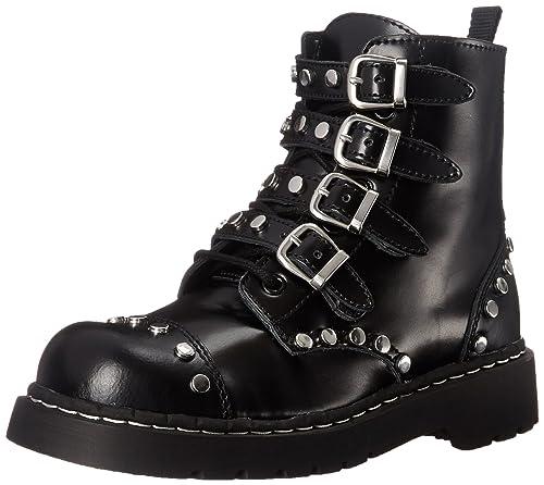 f7ddc8369d3 Amazon.com | T.U.K. Women's Studded Combat Boot | Ankle & Bootie