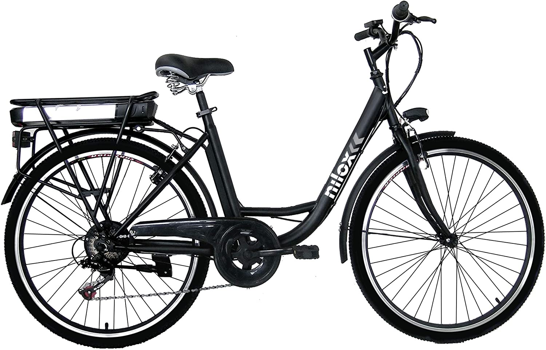 Nilox 30NXEB266VFM1V2 - Bicicleta eléctrica E Bike 36V 7.8AH 26X1.75P - J5, Motor 36 V 250 W, batería Recargable Samsung de Litio 36 V 8 Ah, Carga Completa 4 h, chasis Acero, Velocidad máxima 25 km/h