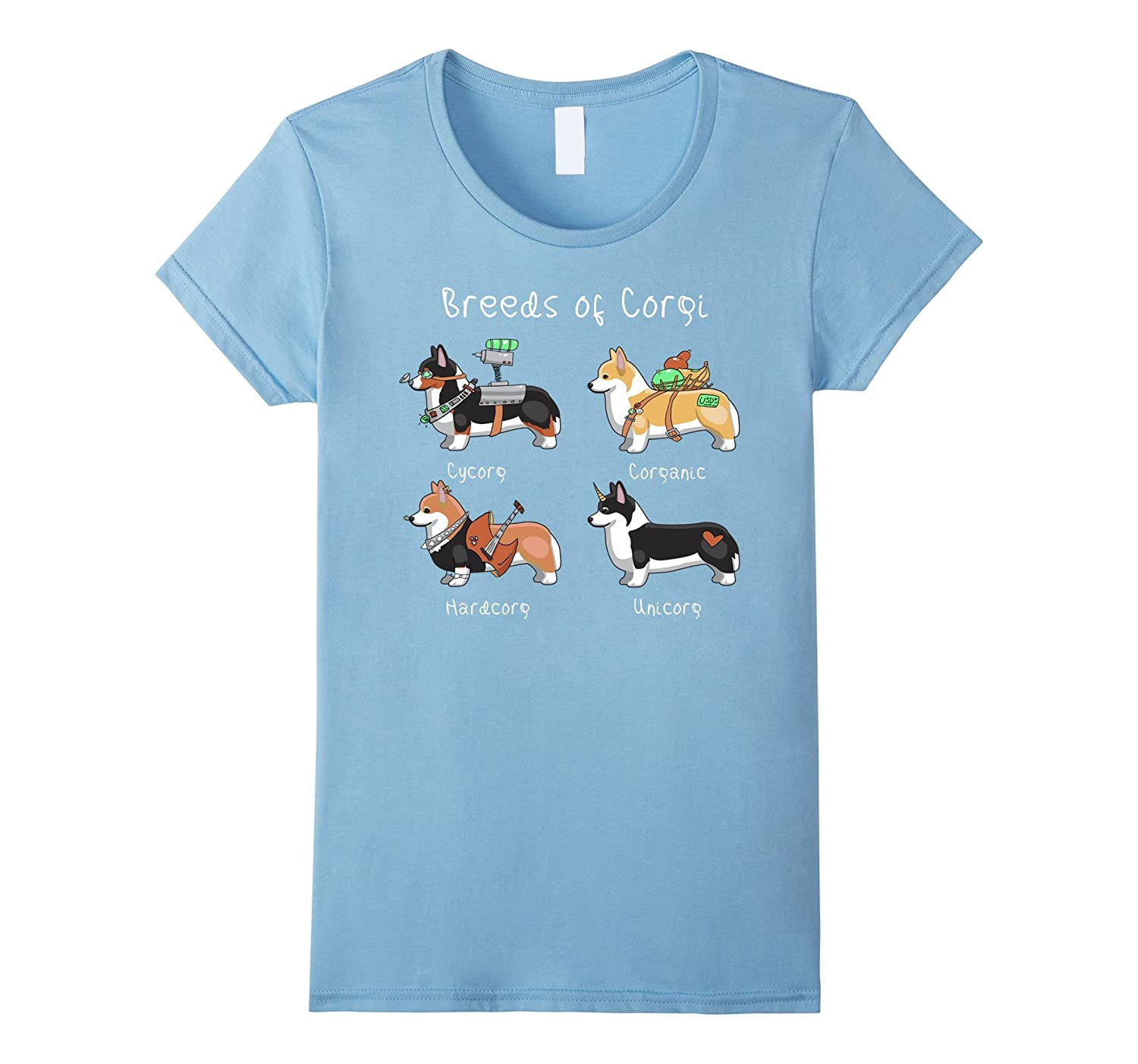 Breeds of Corgi Cycorg Corganic Hardcorg Unicorg T Shirt-Colonhue