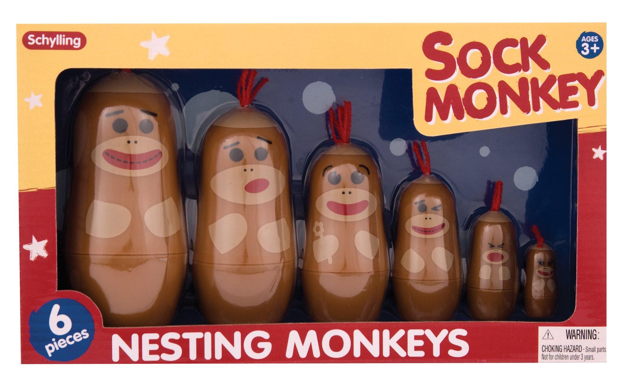 Schylling Sock Monkey Nesting Monkeys by Schylling