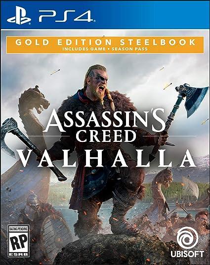 Amazon Com Assassin S Creed Valhalla Gold Steelbook Edition