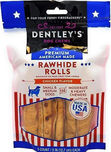 DENTLEY S Rawhide Rolls Chicken Flavor Small Mediun Dogs Small Medium