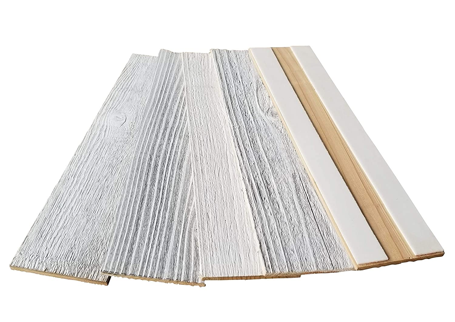 Whitewash Reclaimed Barn Wood Wall Planks - Easy Peel and Stick Wood - 10 Sq Ft. 3 VintaWood
