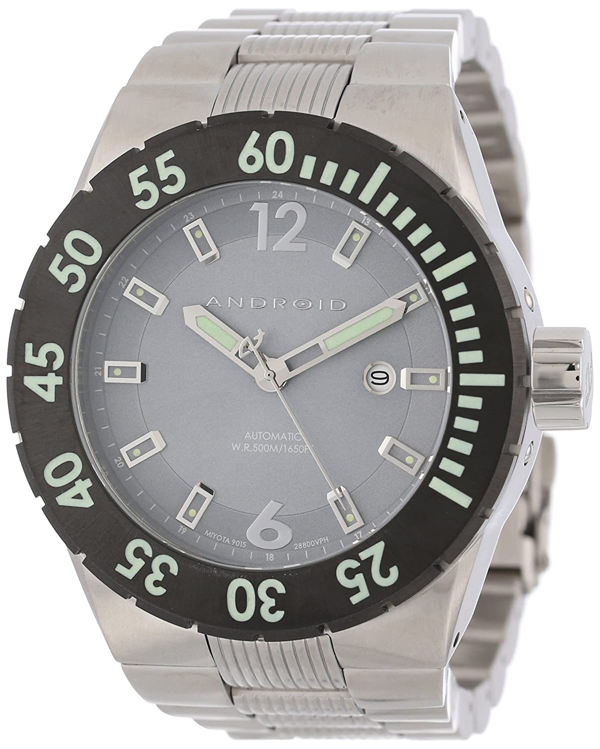 Android Herren AD598BKGY DM Contender 9015 Automatic Stainless Steel Uhr