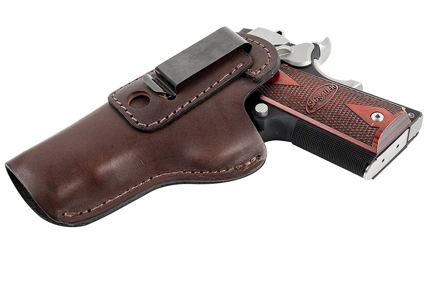 Relentless Tactical The Defender Leather IWB Holster - Fits Most 1911 Style Handguns - Kimber - Colt - S & W - Sig Sauer - Remington - Ruger & More - Made in USA