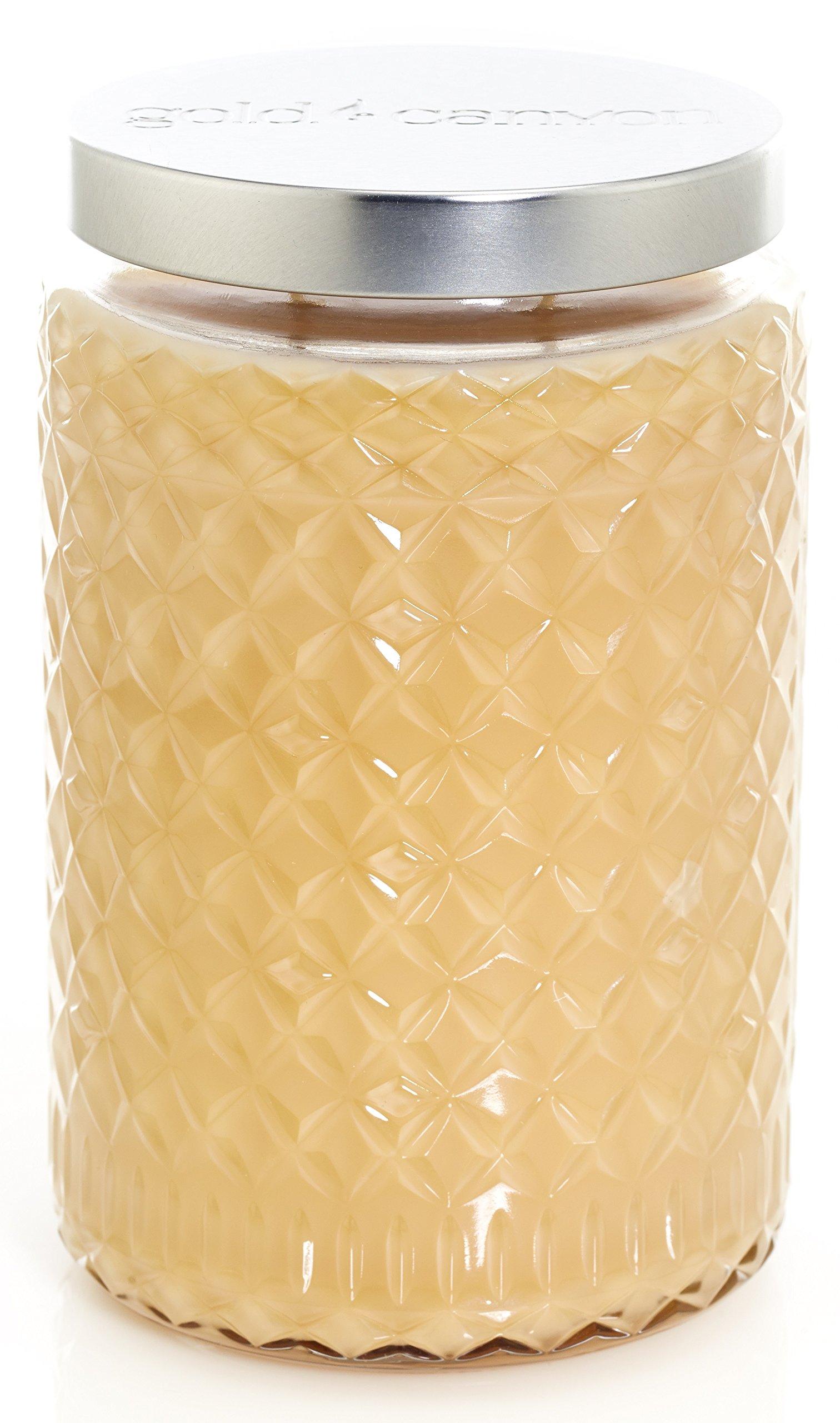 Gold Canyon Candles CARAMEL PUMPKIN KISS (26 ounce) ~ Creamed butter. Enchanting peach. Sweet maple.