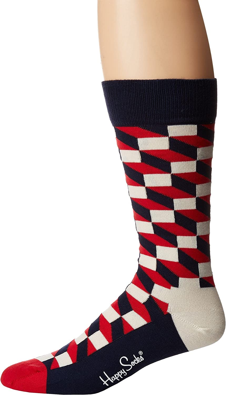 Happy Socks Mens Filled Optic Socks