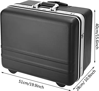 Voluker Valigia degli attrezzi Cassetta porta attrezzi con ruote Cassetta degli attrezzi vuota,Dispositivo di blocco della password,Scomparto regolabile,con cinturino regolabile,51 x 40 x 28 cm
