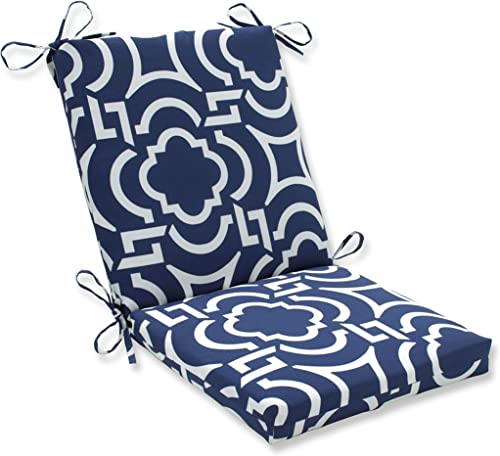 Pillow Perfect Outdoor/Indoor Carmody Navy Square Corner Chair Cushion