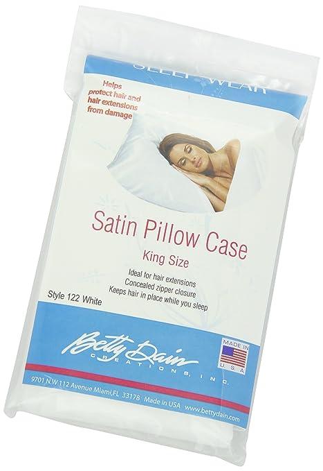 Amazon.com: Betty Dain Satin Pillowcase, King Size, White, 1 Count ...