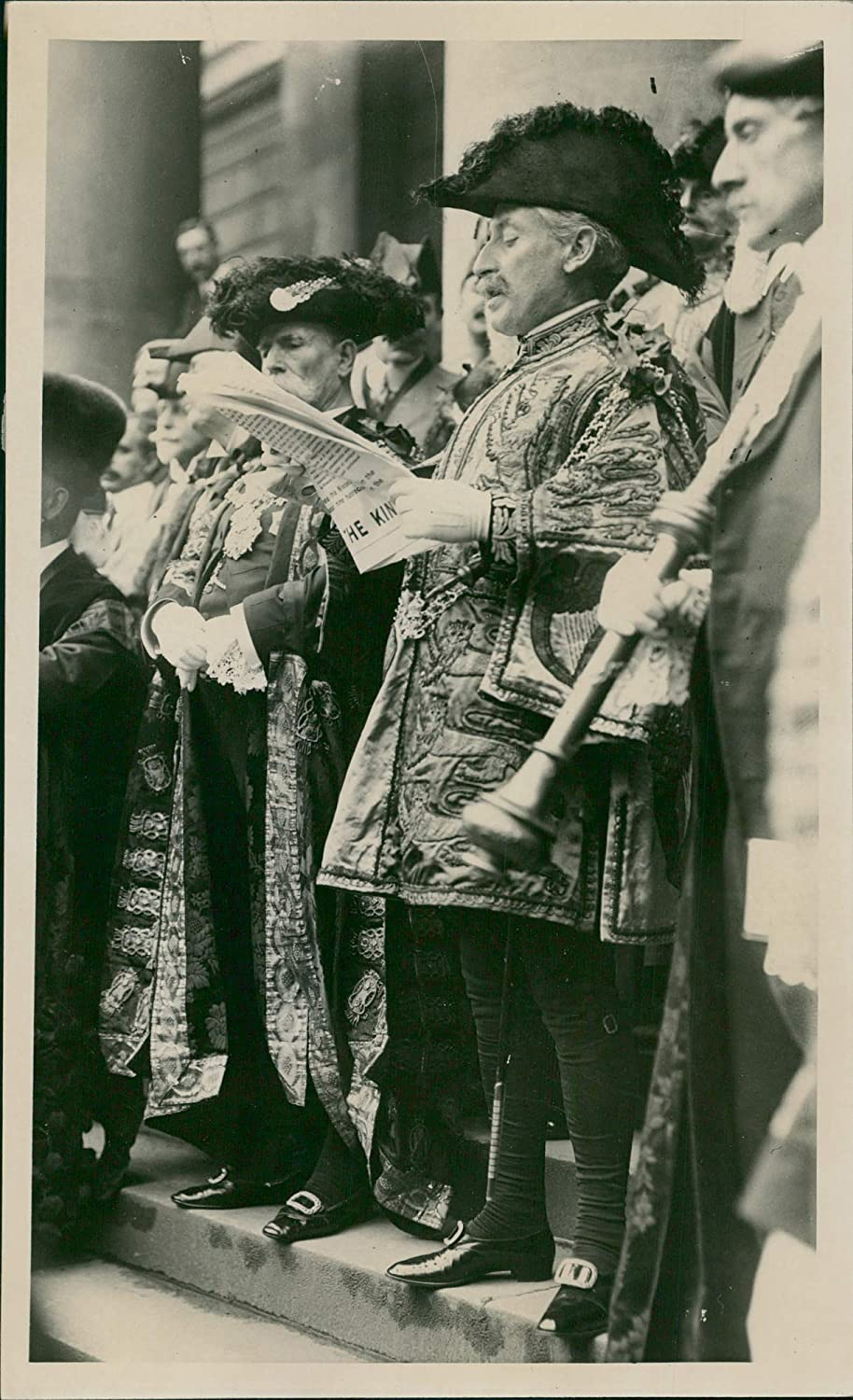 Fotomax Vintage Photo of What Tomorrow's Proclamation Ceremony Will be Like.