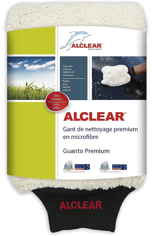 Gant en microfibre ALCLEAR 950013WH pour le lavage de voiture avec shampooing : mieux qu'une éponge de lavage de voiture, une toile de polissage ou un chiffon en microfibre ; pour la voiture, la moto. ALCLEAR International GmbH