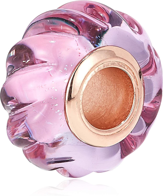 charm pandora murano rose
