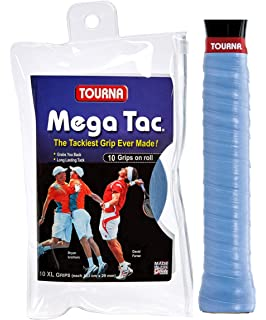 Tourna Mega Tac Extra Tacky Overgrip, 10-Pack