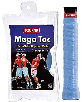 Unique Overgrip Mega TAC 10er - Mango de Raqueta de Tenis, Color Azul, Talla Standard: Amazon.es: Deportes y aire libre