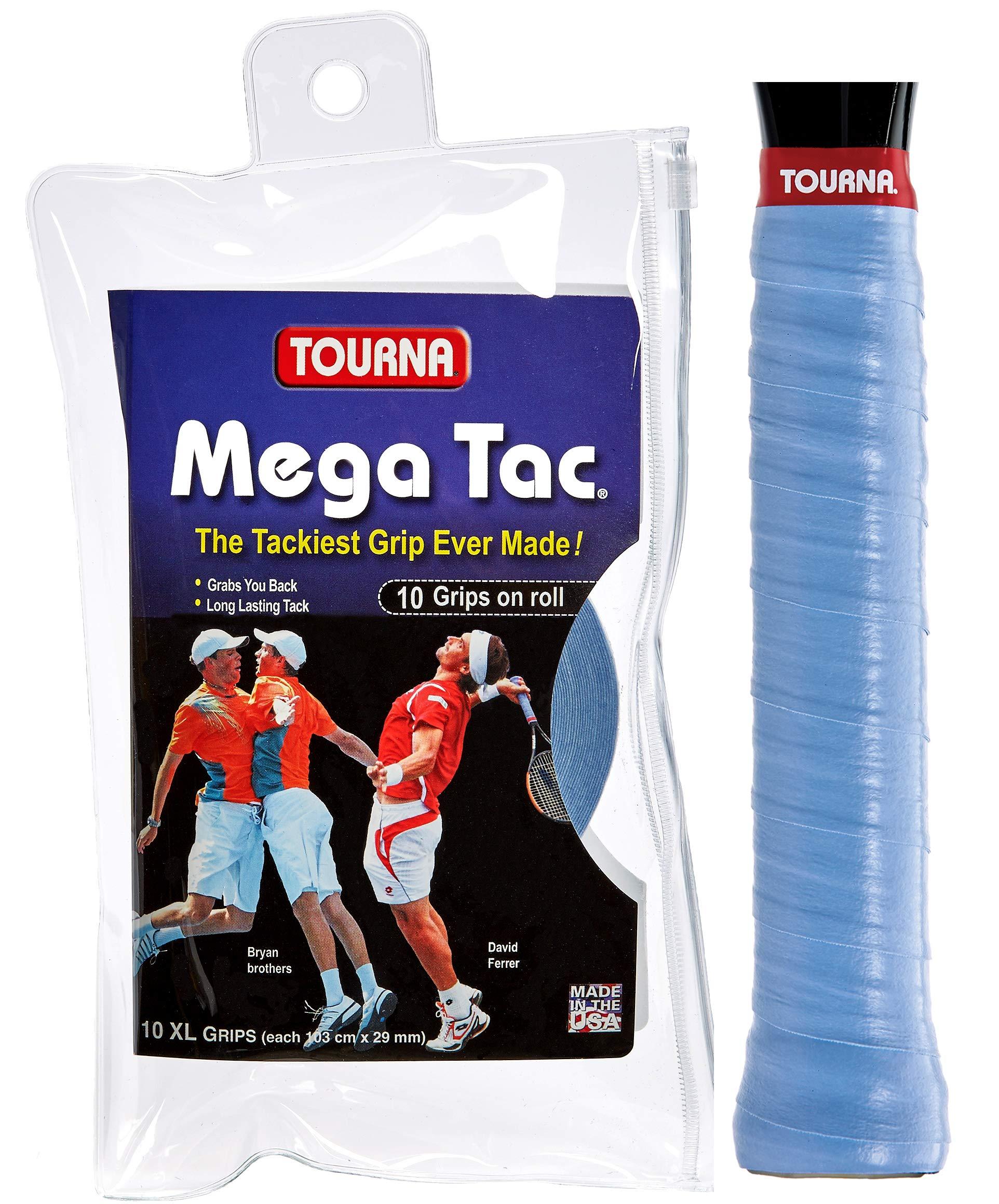 Unique Overgrip Mega TAC 10er - Mango de Raqueta de Tenis, Color Azul, Talla